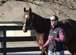At the Winstar Training facility in Lexington after his last career start.