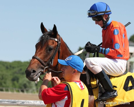Miss Moonshine hits the track at Parx on June 24, 2014