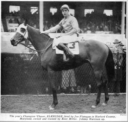 ELKRIDGE: United States Champion Steeplechaser in 1942 and '46 was foaled at Country Life in 1938 . The Gelding by Mate out of Best by Test. was inducted to National Racing Hall of Fame in 1966 and the MD Thoroughbred Hall of Fame in 2013.