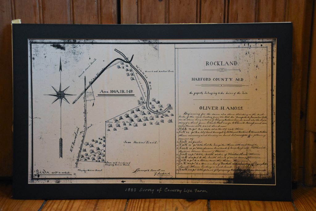 Country Life Farm in an early plat drawing called Rockland