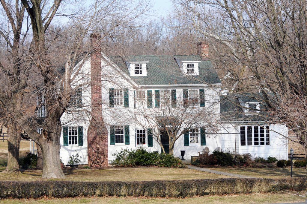 Merryland house in winter.