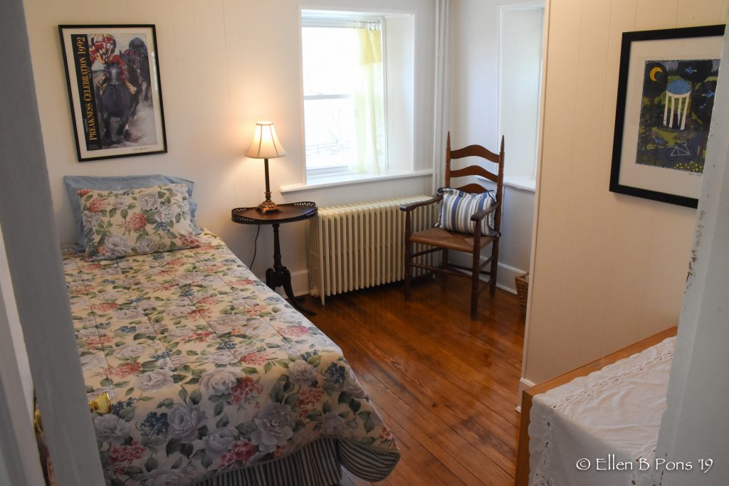 The single bedroom shares a bath with the others on the 2nd floor.