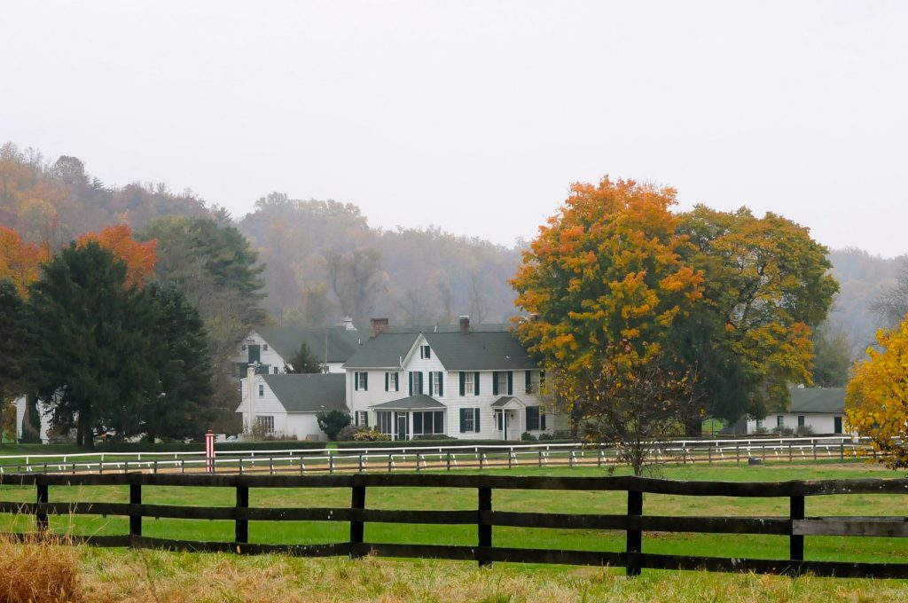 Merryland house in a fall setting.