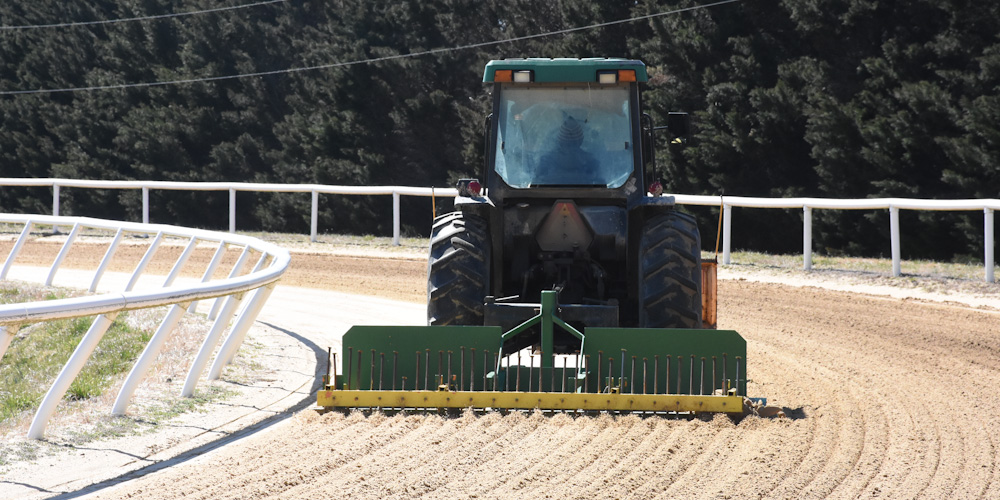 The track is carefully maintained daily.