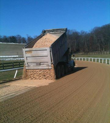 New sand for the racetrack.